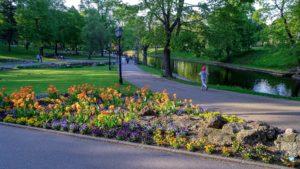 Parque Kronvalda em Riga