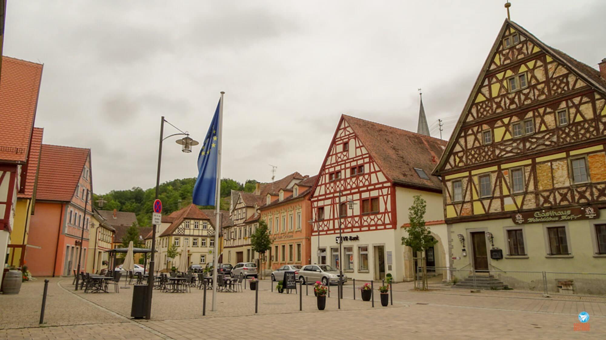 Röttingen na Rota Romântica na Alemanha