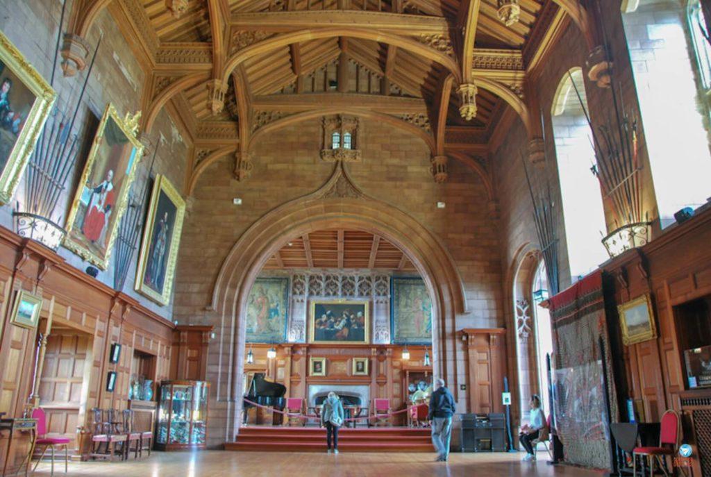 Grande salão Castelo de Bamburgh