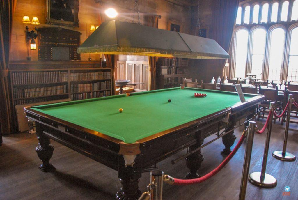 Sala de jogos no Castelo de Bamburgh