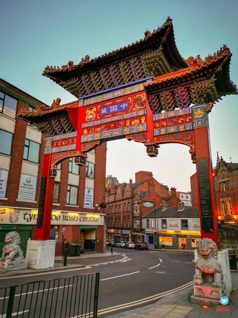 Chinatown em Newcastle, Inglaterra