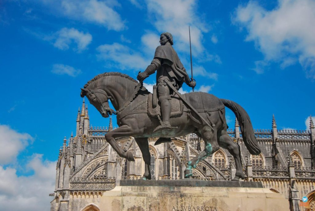D. Nuno Álvares Pereira no Mosteiro da Batalha