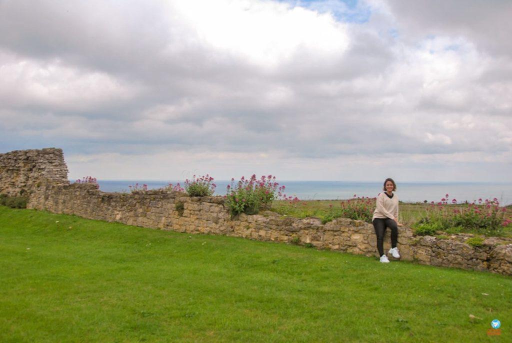 Vista do Scarborough Castle, Inglaterra