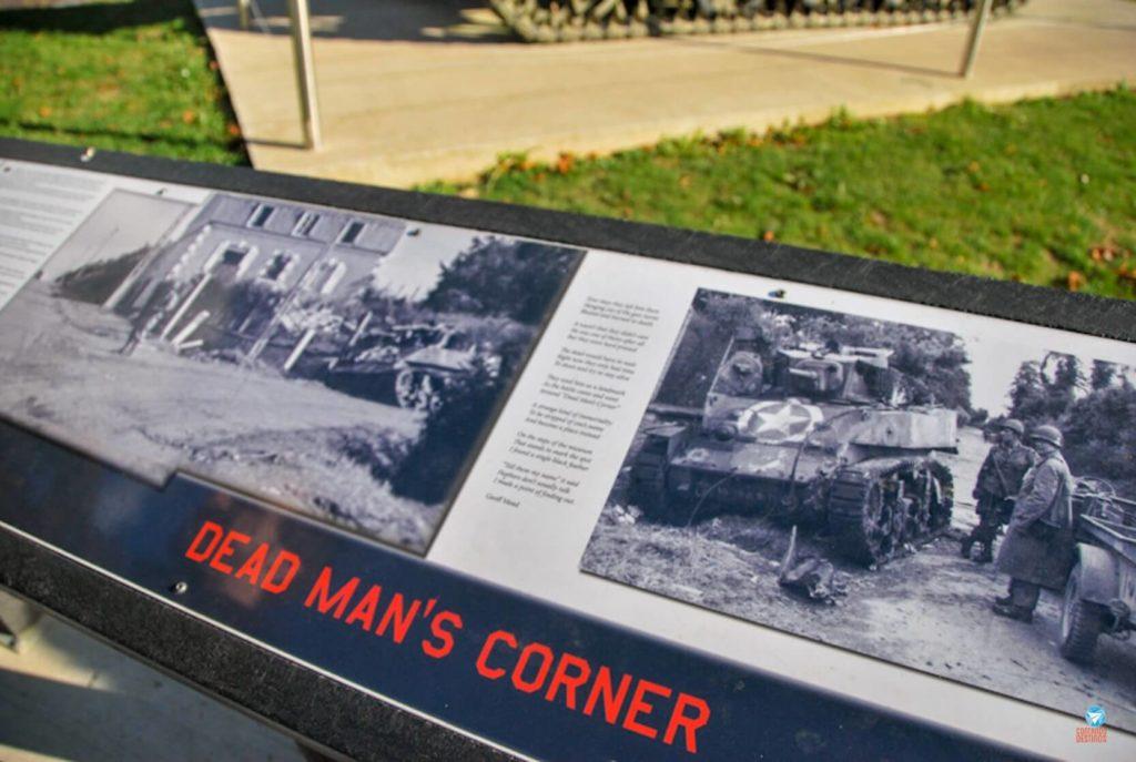 Dead Man's Corner Museum na Normandia, França