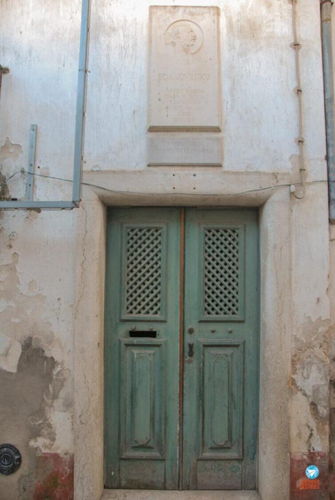 Casa onde morou Eça de Queiros em Leiria em Portugal