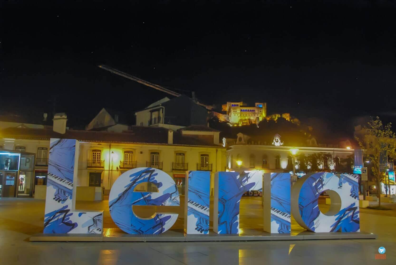 Letreiro de Leiria em Portugal