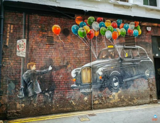 Street art em Glasgow