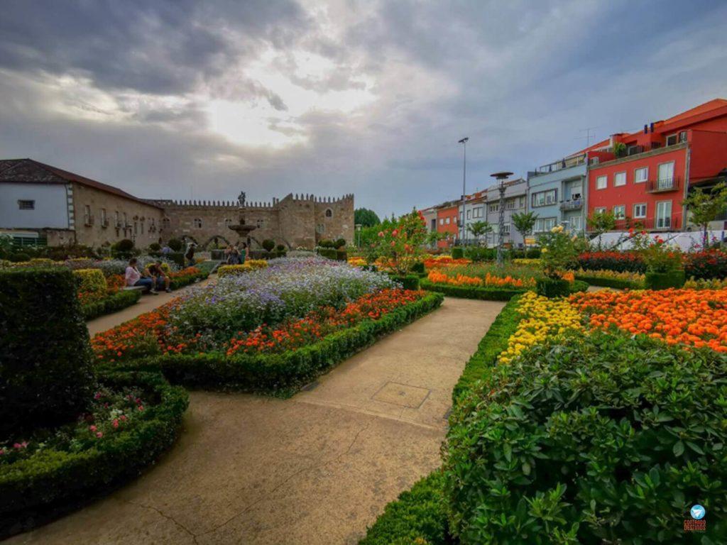 Jardim de Santa Barbara em Braga, Portugal
