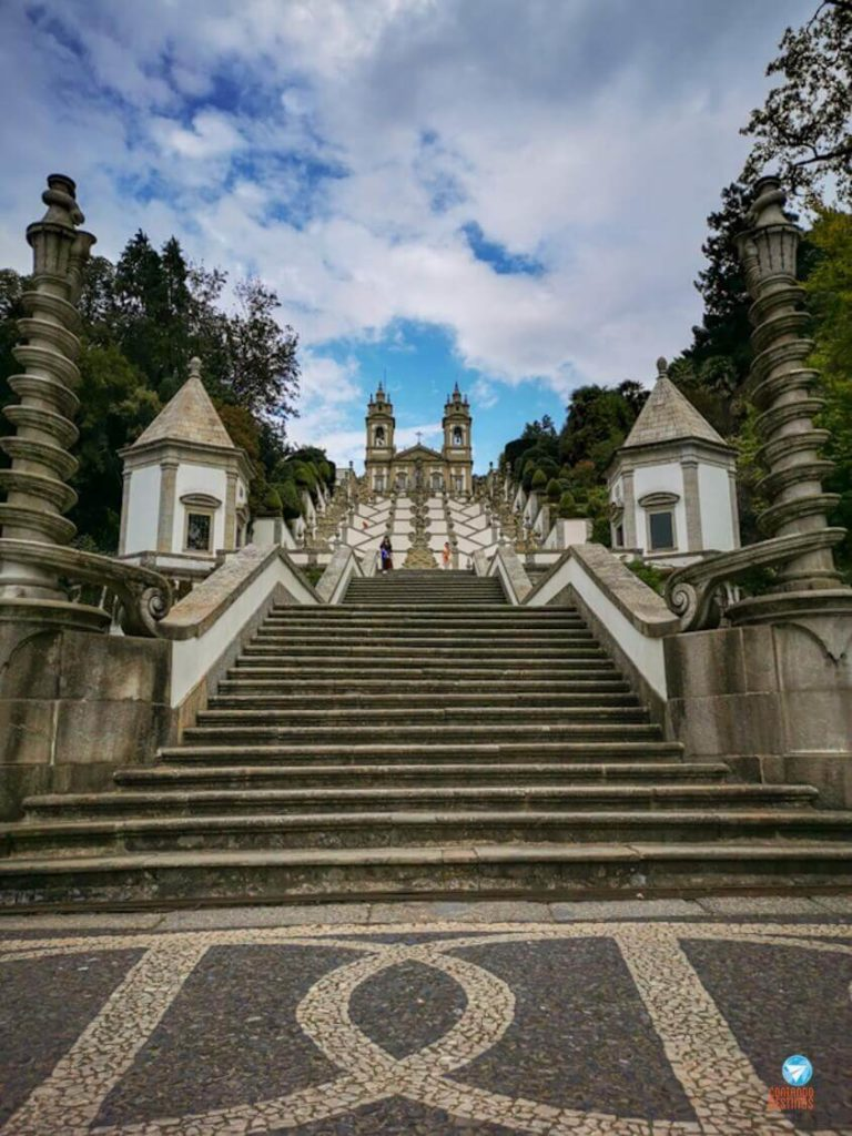 Escadaria do Santuário do Bom Jesus do Monte em Braga, Portugal