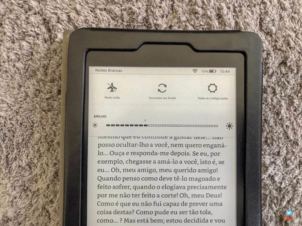 Iluminação da tela do Kindle