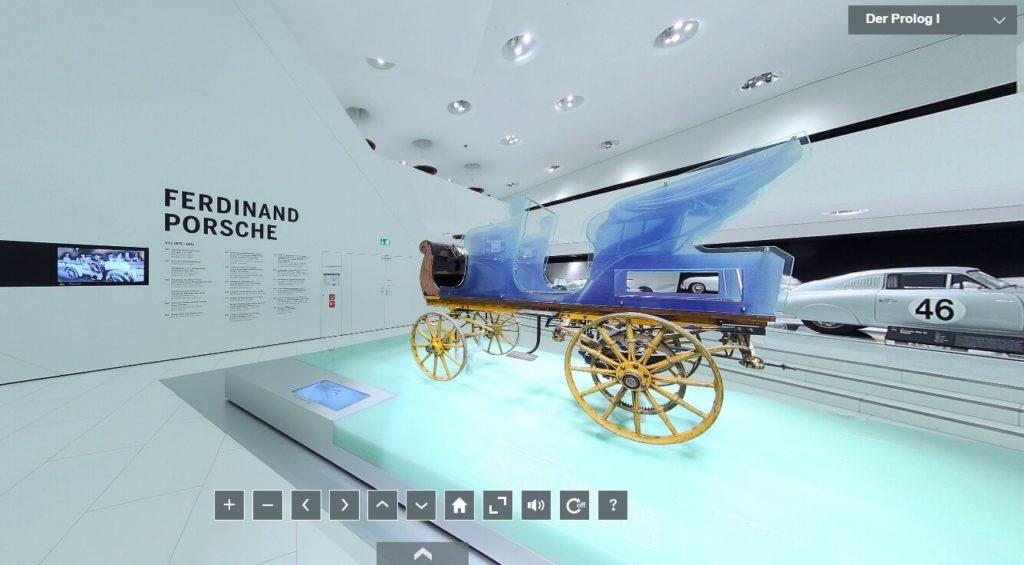 Visita virtual ao museu da Porsche