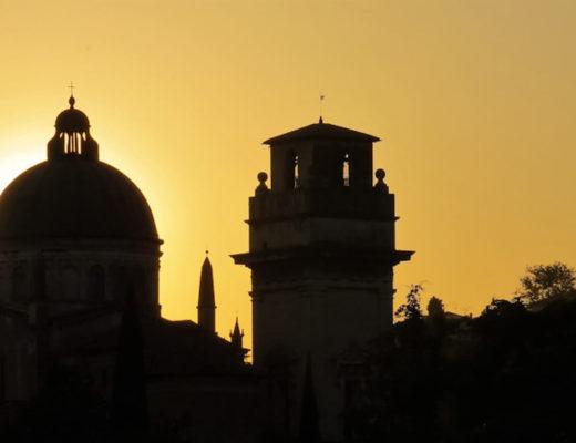 Filmes gravados na Itália - pôr do sol em Verona