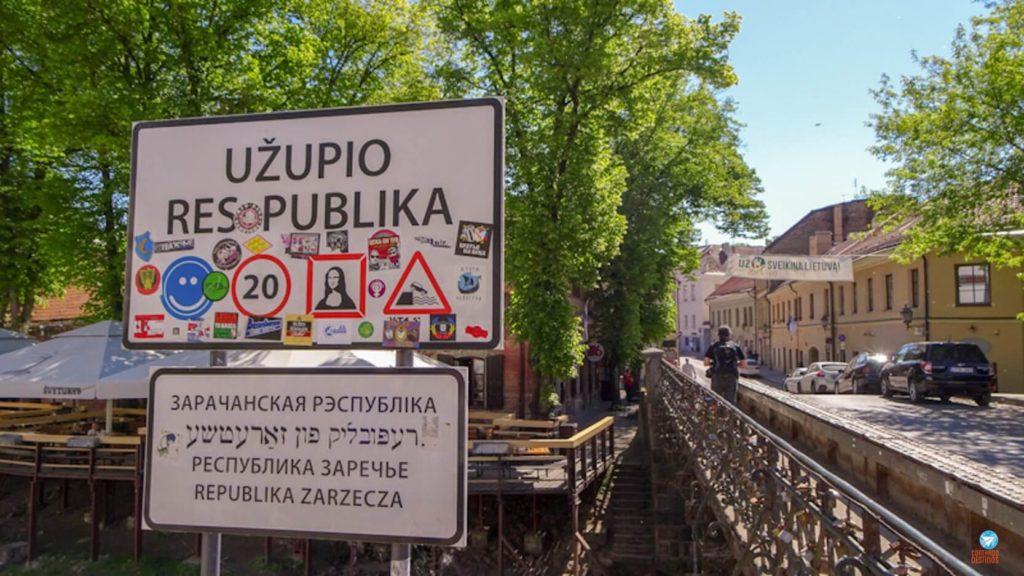 Uzupis em Vilnius